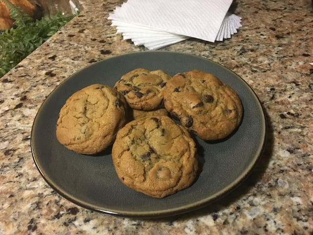 Warm cookies usually provided upon arrival!