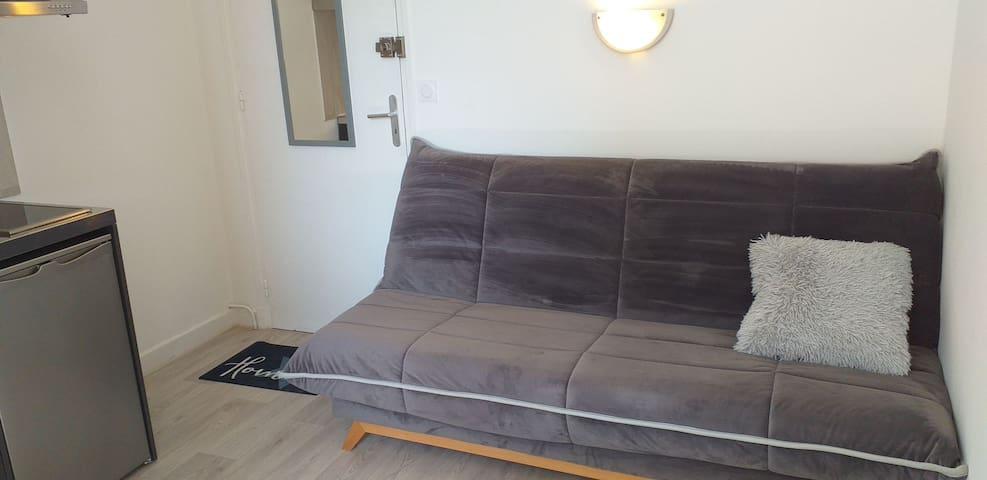 Canapé-lit couchage 120 - matelas Dunlopillo