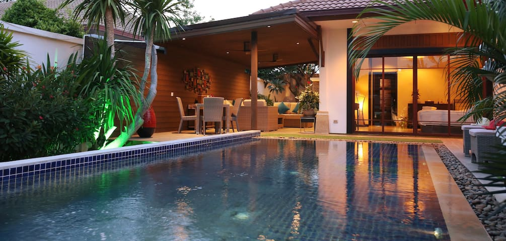 Luxury, Bali style pool villa.