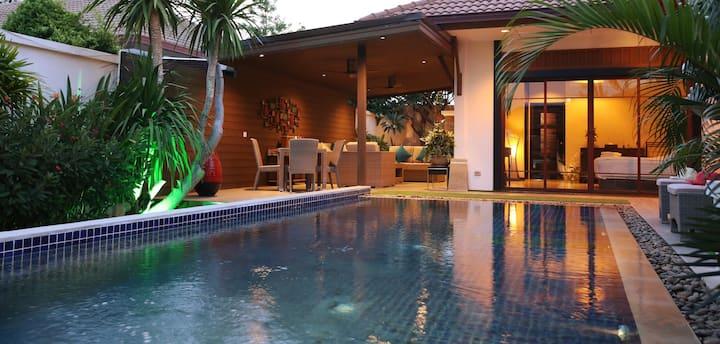Luxury, Bali style pool villa.