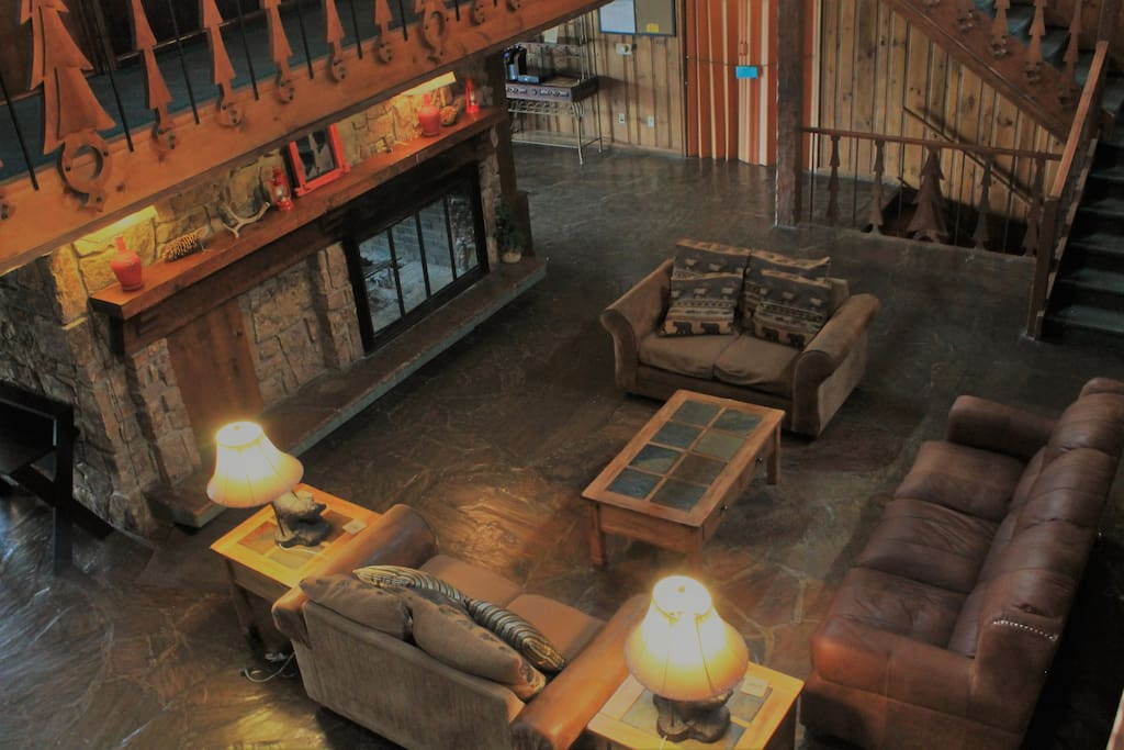View of Lodge seating looking from your room