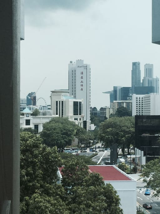 Nice city view from the working desk