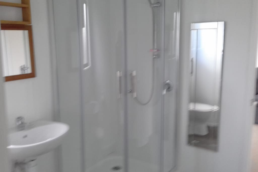 shower basin and tolet