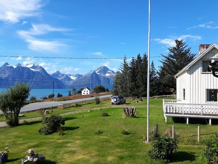 Lyngen Arctic View- Fjord & fjell & Midnattsol