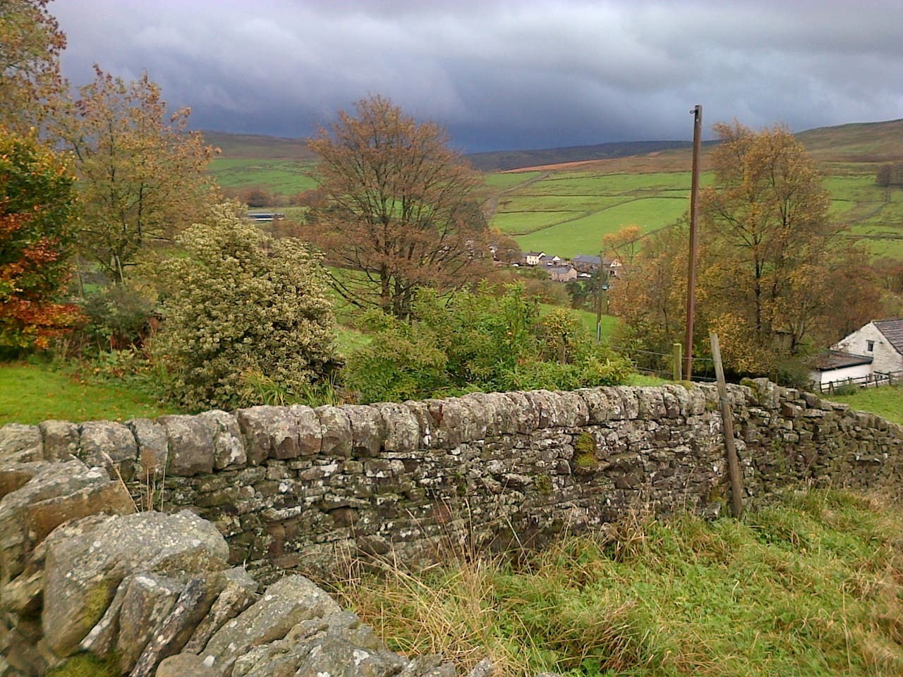 One of the gorgeous autumn views beside the cottage