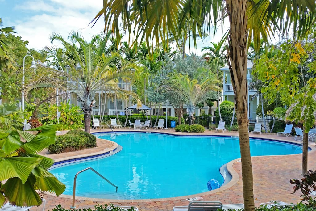 Shared pool in the gated Coral Hammock Community complex