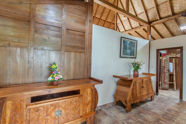 Hand carved furnishings tell about the culture