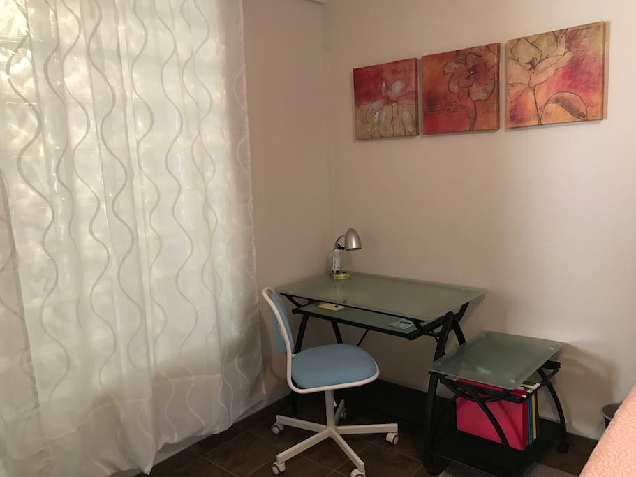 Private room: Desk and chair