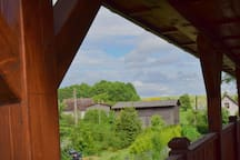 Widok z balkonu na poddaszu