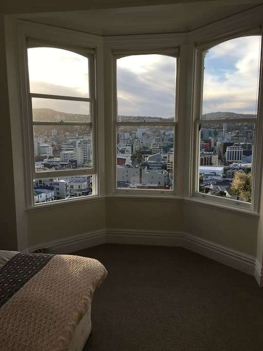 City view from the master bedroom