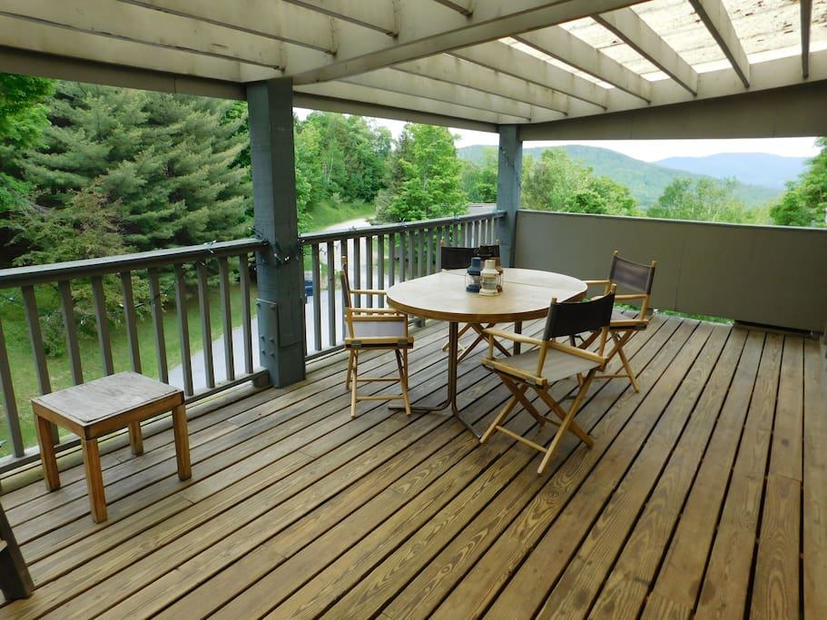 Big deck with views to the east