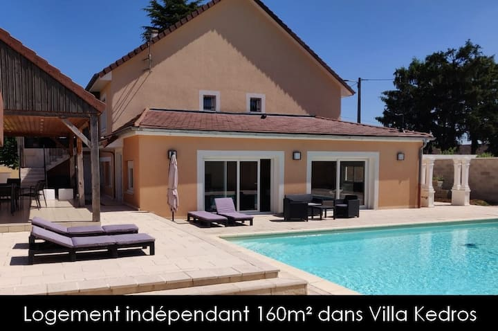 Villa Kedros Gîte aux portes de Dijon  SPA/Piscine