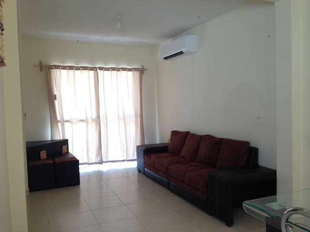 living room with air conditioned