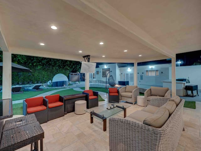 Main Patio with flat screen TV