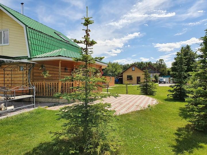 Загородный дом с баней деревня Кокшамары