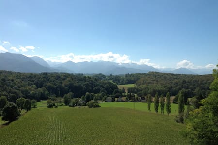 Cosy room with à 180° view of the Pyrénées - Saint-Vincent - 独立屋