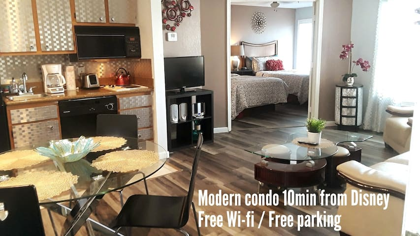 Charming condo 7min to Disney FREE Wifi /parking