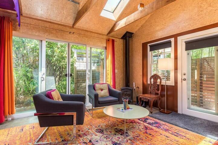 Whimsical, private studio in garden  oasis.