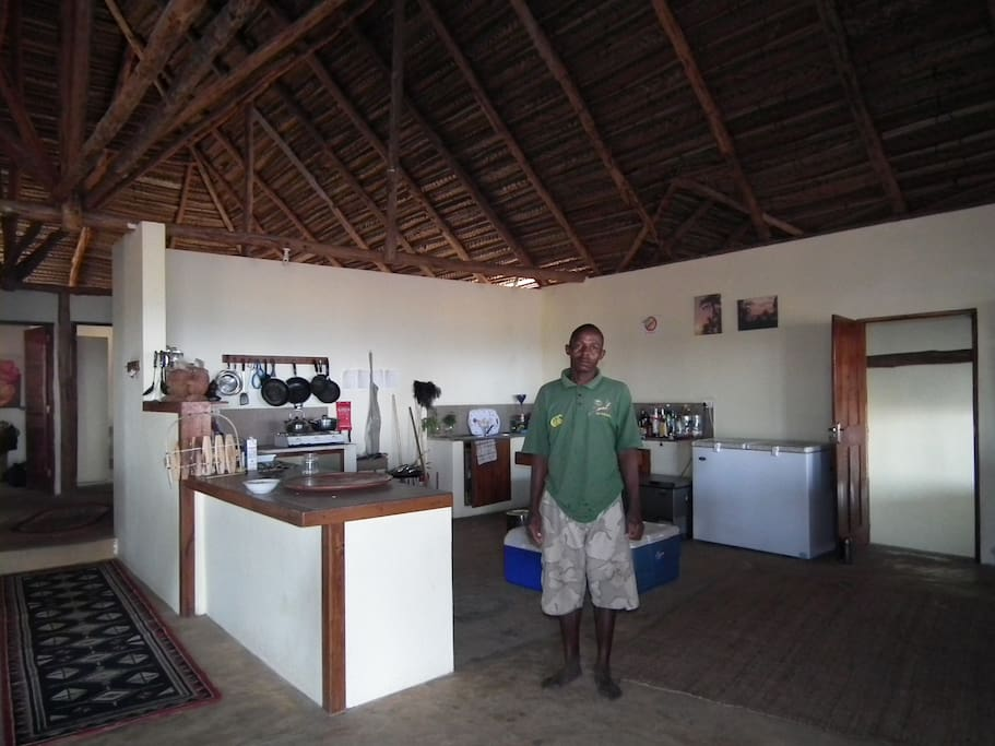 Huge open plan kitchen