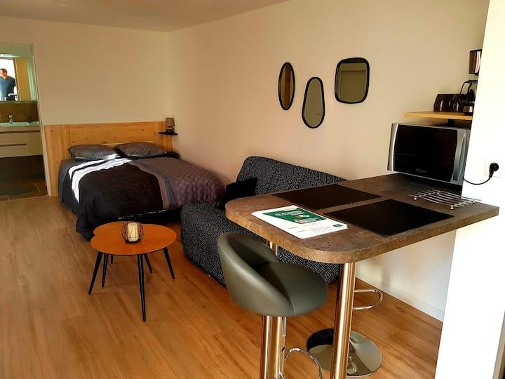 Joli studio indépendant avec terrasse