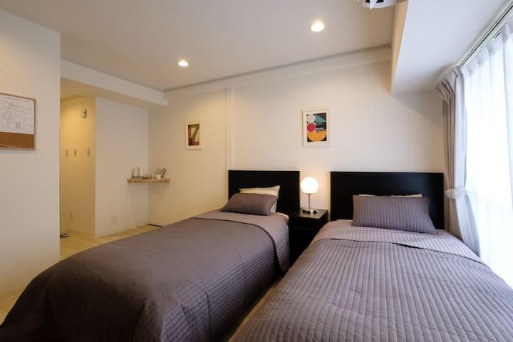 (0.B)2 room♦6 people can stay♦Pocket Wi-fi♦