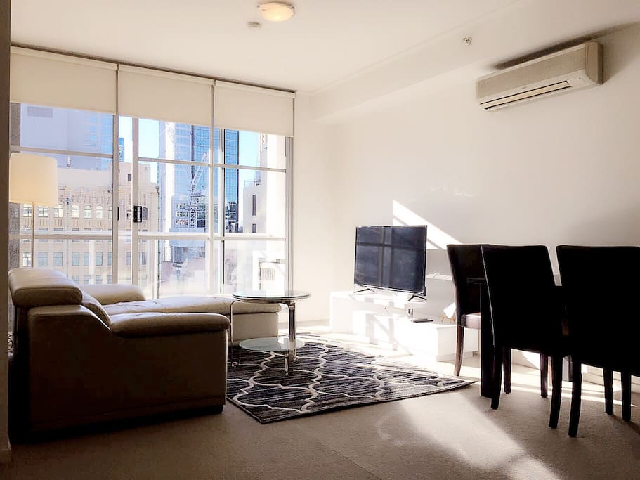 Opening to embrace the natural light of a east aspect and capturing sensational city views.