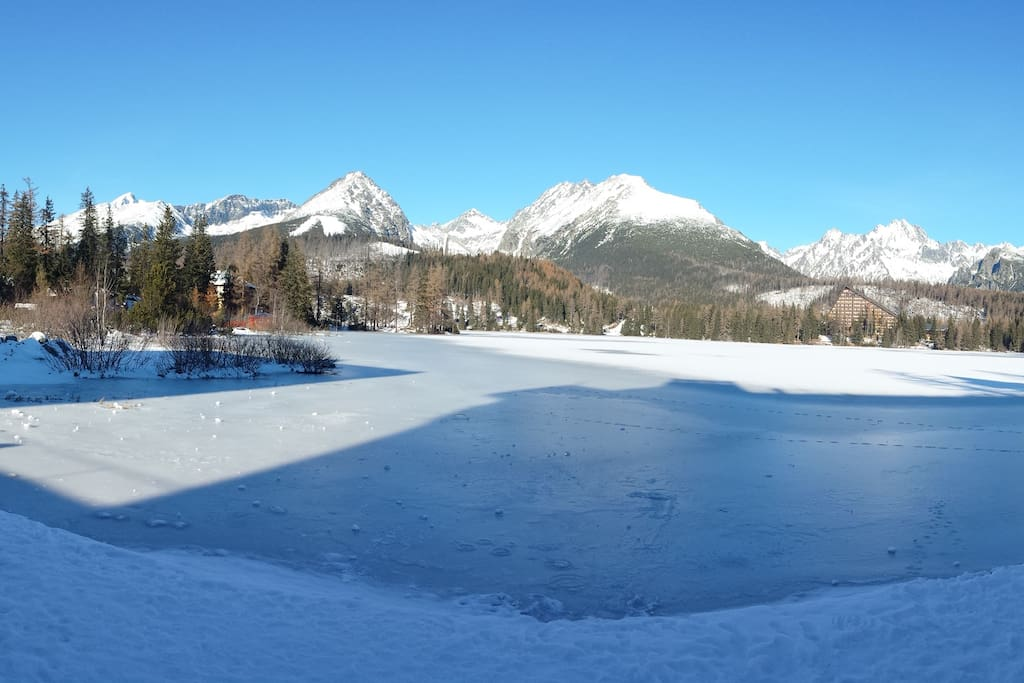 Strbske pleso lake- 200m from apartment