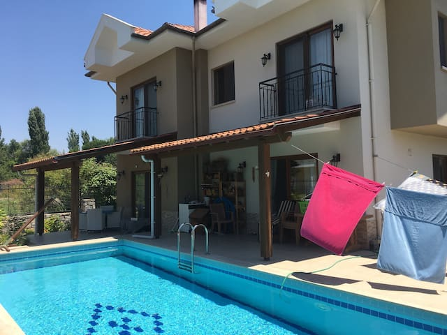 One room double bed with  pool in Dalaman