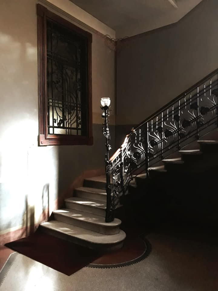 The staircase of Casa Guazzoni