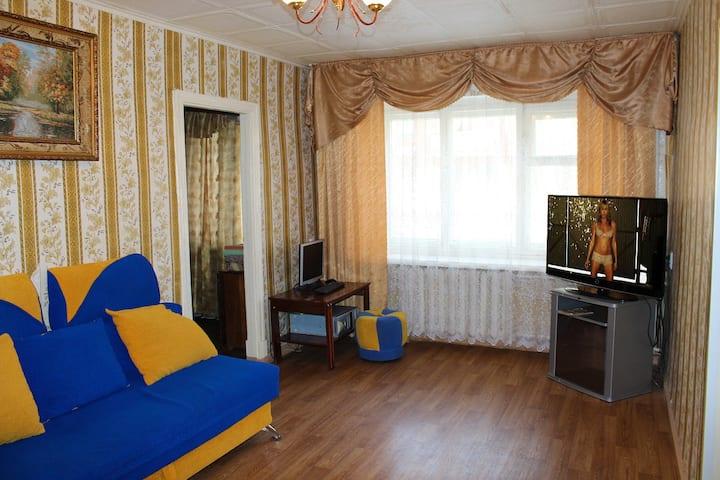 Уютная 3-к квартира на Пугачева 24