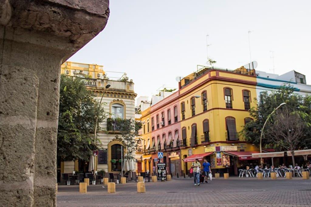 Calle Trajano desde la Alameda