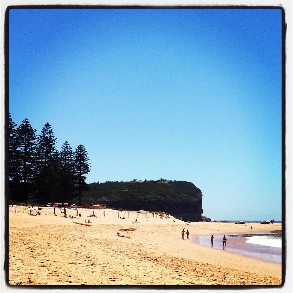 Mona Vale Beach is just a short walk from the townhouse