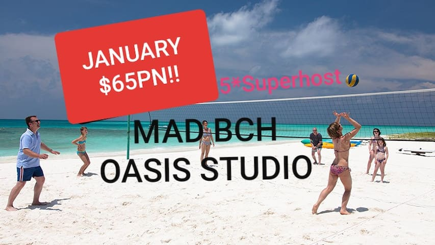 Mad Bch Oasis Studio*JANUARY NOW$65PN!