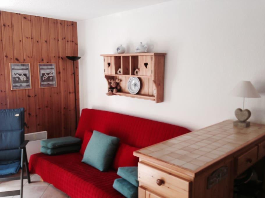 Séjour - living (avec canapé lit)