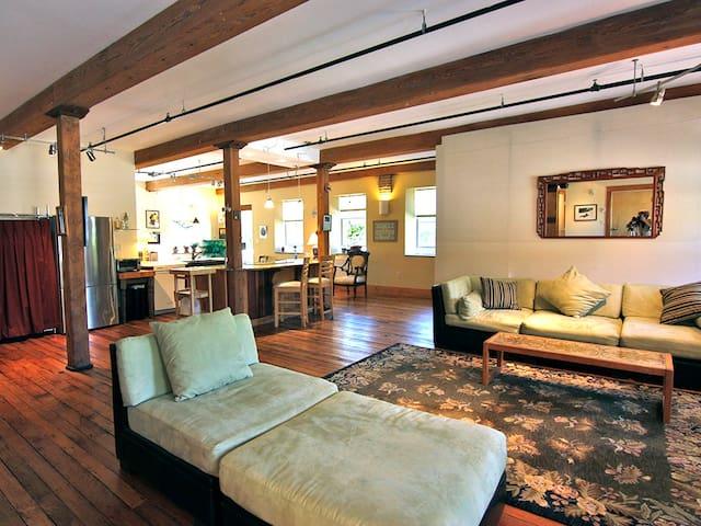 Loft apartment in historic mill