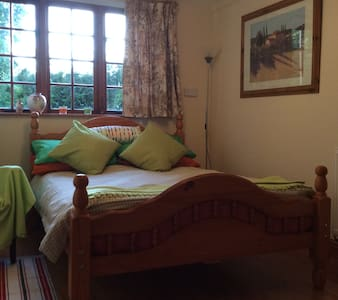 Double ensuite room with access to patio - Burcombe - Bed & Breakfast