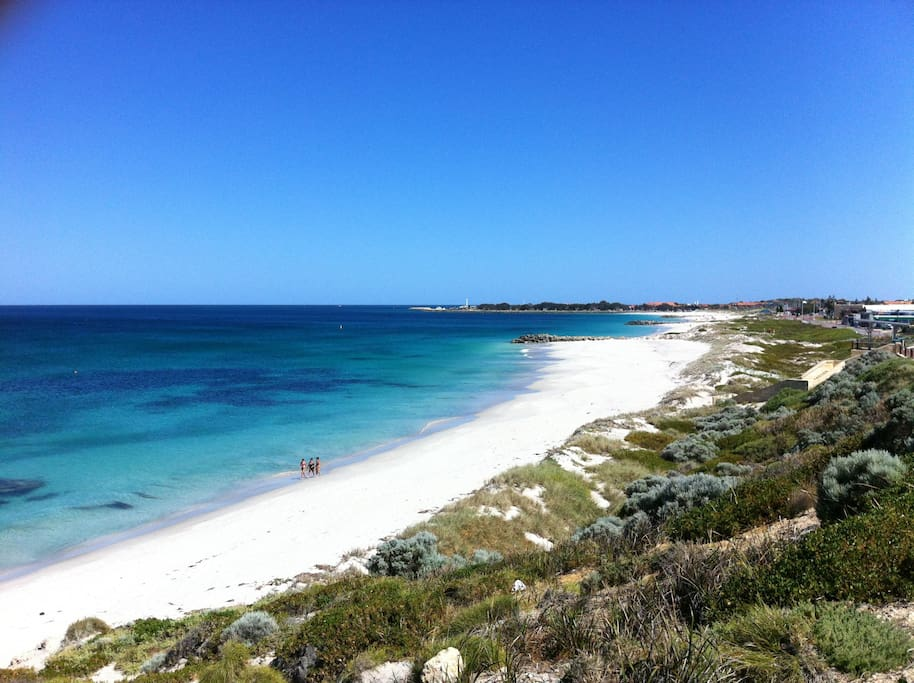 Sorrento Beach is just 76 steps away