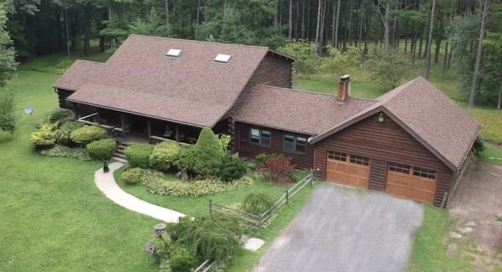 Beautiful Log Home on 16 Private acres