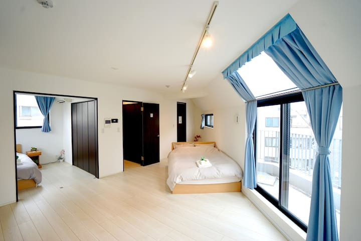 Our brand-new modern Japanese apartment.