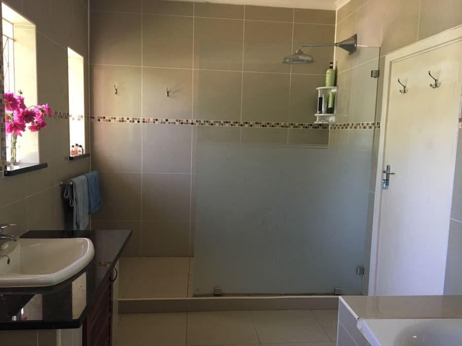 Shared Bathroom - shower & bath