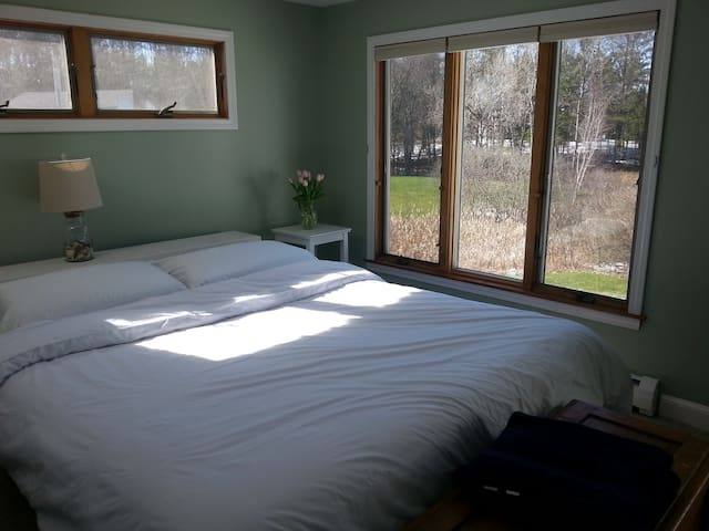 Bright, spacious room on the river - York - Casa