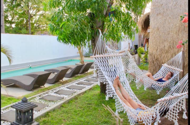 Gili Inlander #1 - bungalow with a free bicycles