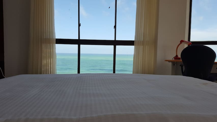 View from the bed in the Master bedroom