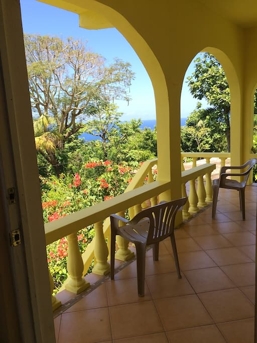 View of veranda from the Master bedroom.