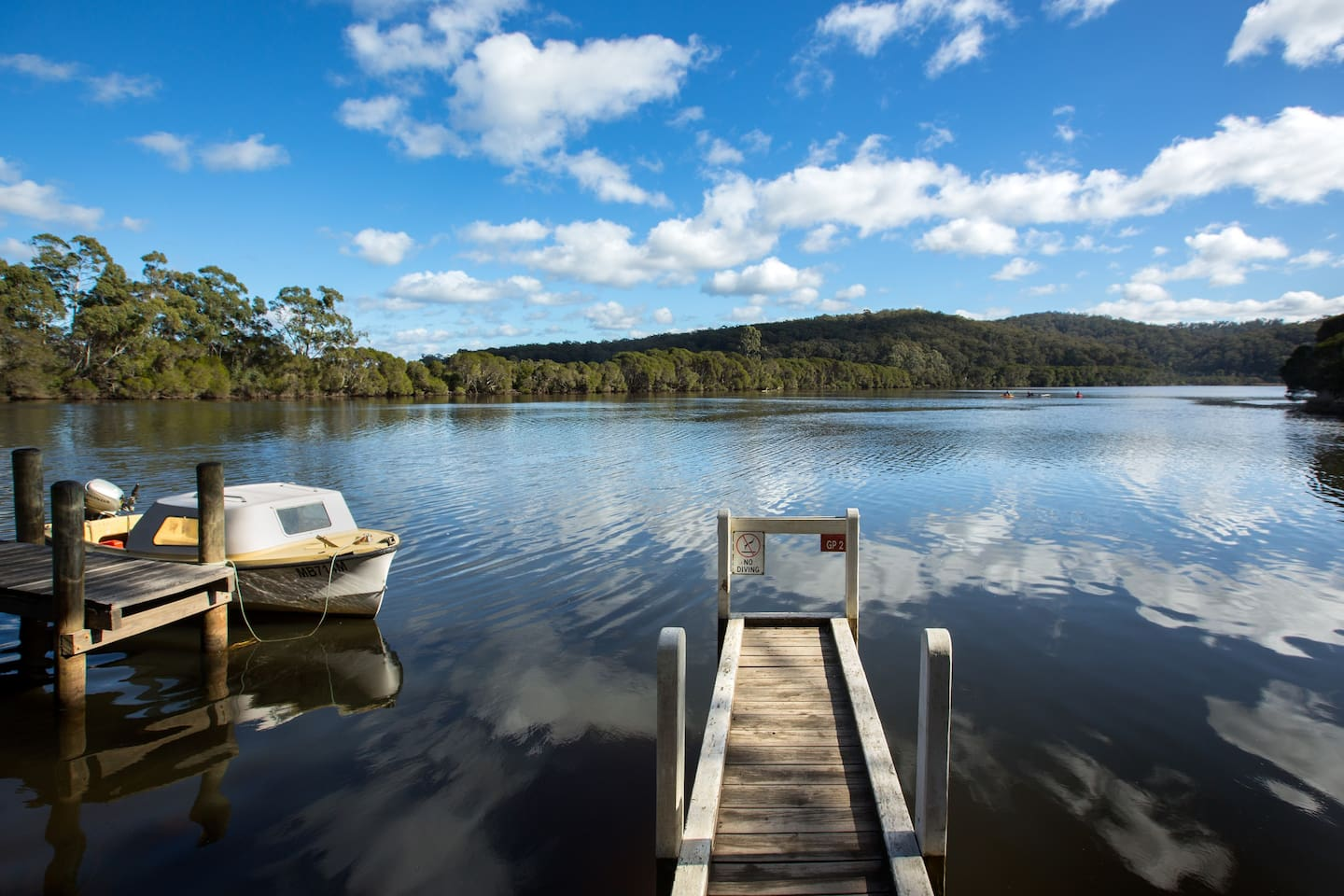 our Private Jetty with Boat hire available