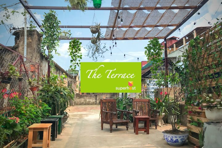GREEN TERRACE🌿🌿Super Quiet⭐️Old quarter⭐️Garden