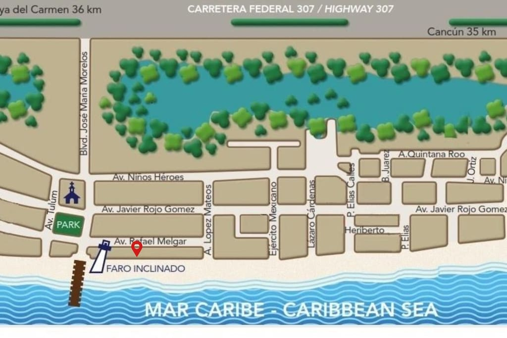 Priviledge location, ocean front and a few steps from the main square