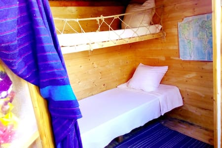 Cosy log cabin with a bunk bed - Madrid - Chalet