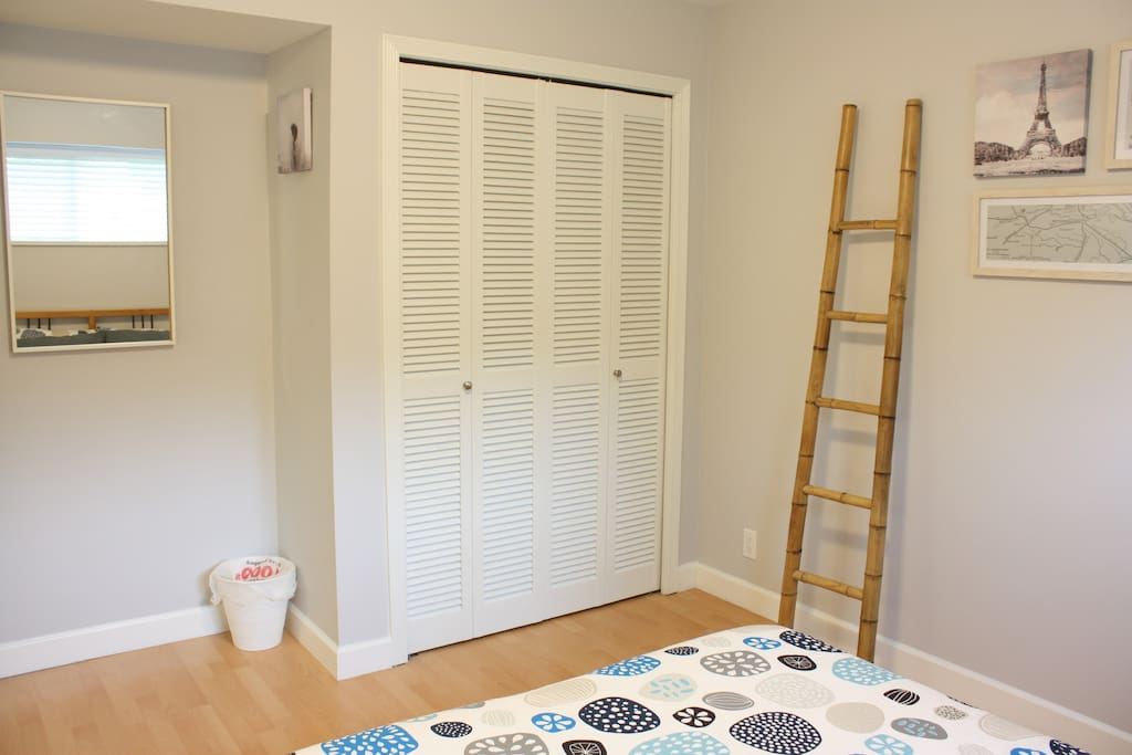 Bedroom closet for your storage needs.