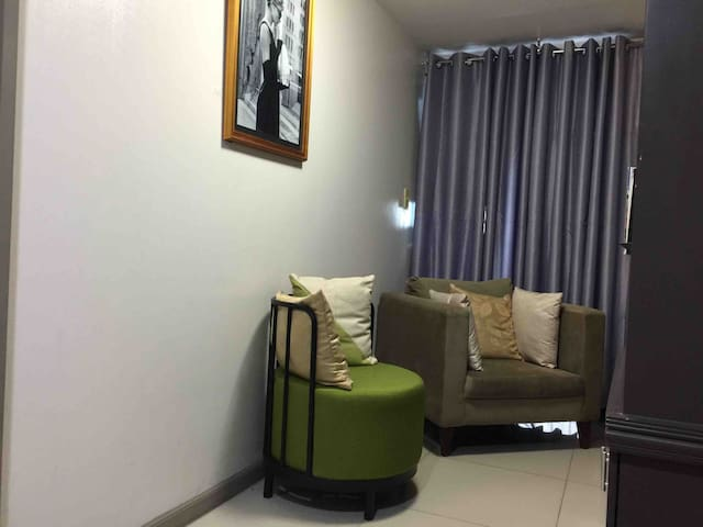 2 BR balcony pool wifi at ADB Avenue Tower Ortigas